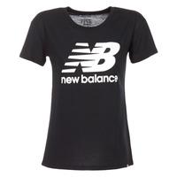 textil Dame T-shirts m. korte ærmer New Balance NB LOGO T Sort / Hvid
