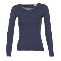 textil Dame Langærmede T-shirts Esprit GIMUL Marineblå