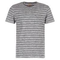 textil Herre T-shirts m. korte ærmer Selected FINN Grå / Sort