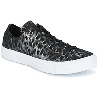 Sko Dame Lave sneakers Converse CHUCK TAYLOR ALL STAR SHIMMER SUEDE OX BLACK/BLACK/WHITE Sort / Hvid
