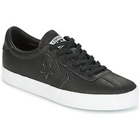 Sko Dame Lave sneakers Converse BREAKPOINT FOUNDATIONAL LEATHER OX BLACK/BLACK/WHITE Sort / Hvid