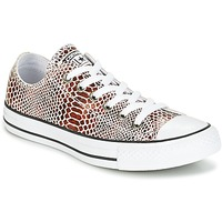 Sko Dame Lave sneakers Converse CHUCK TAYLOR ALL STAR FASHION SNAKE OX BROWN/BLACK/WHITE Sort / Hvid