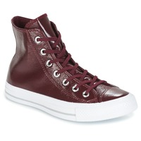 Sko Dame Høje sneakers Converse CHUCK TAYLOR ALL STAR CRINKLED PATENT LEATHER HI DARK SANGRIA/DA Viininpunainen