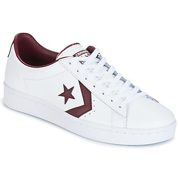 Sko Herre Lave sneakers Converse PL 76 FOUNDATIONAL LEATHER WITH ELEVATED DETAILING OX WHITE/DEEP Hvid / BORDEAUX