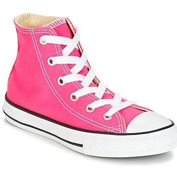 Sko Pige Høje sneakers Converse CHUCK TAYLOR ALL STAR SEASONAL HI PINK POW Pink