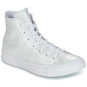 Sko Dame Høje sneakers Converse CHUCK TAYLOR ALL STAR IRIDESCENT LEATHER HI IRIDESCENT LEATHER H Valkoinen
