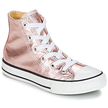 Sko Pige Høje sneakers Converse CHUCK TAYLOR ALL STAR METALLIC SEASONAL HI METALLIC SEASONAL HI Pink / Hvid / Sort