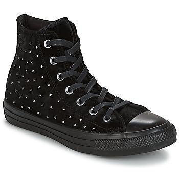 Sko Dame Høje sneakers Converse CHUCK TAYLOR ALL STAR HI Mørksort