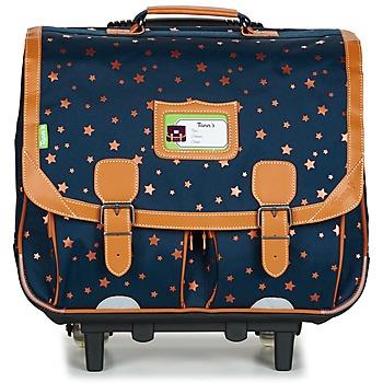 Tasker Pige Rygsække / skoletasker med hjul Tann's ETOILE MARINE TROLLEY CARTABLE 41CM Marineblå