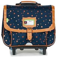 Tasker Pige Rygsække / skoletasker med hjul Tann's ETOILE MARINE TROLLEY CARTABLE 38CM Marineblå