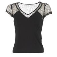 textil Dame T-shirts m. korte ærmer Morgan DSTAF Sort