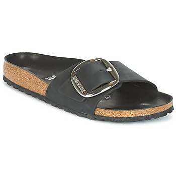 Sko Dame Tøfler Birkenstock MADRID BIG BUCKLE Sort / Mat