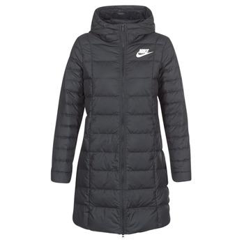 textil Dame Dynejakker Nike DOWN FILL PARKA Sort / Hvid