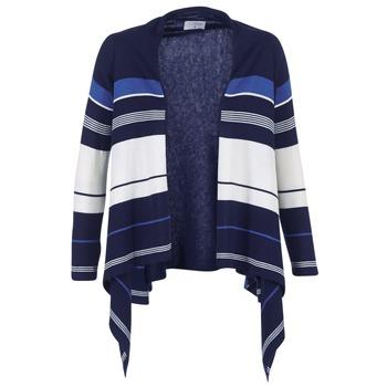 textil Dame Veste / Cardigans Casual Attitude IHARINE Marineblå / Hvid