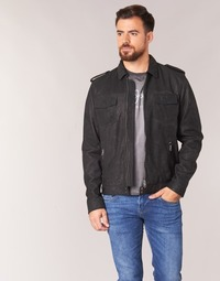 textil Herre Læderjakker Pepe jeans NARCISO Sort