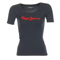 textil Dame T-shirts m. korte ærmer Pepe jeans MARIA Sort
