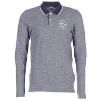 textil Herre Polo-t-shirts m. lange ærmer Jack & Jones CYMBAL ORIGINALS Grå