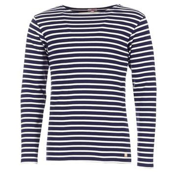 textil Herre Langærmede T-shirts Armor Lux GELGA Marineblå / Hvid
