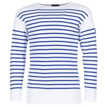 textil Herre Langærmede T-shirts Armor Lux DISJON Hvid / Blå