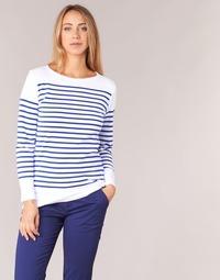 textil Dame Langærmede T-shirts Armor Lux ROADY Hvid / Blå