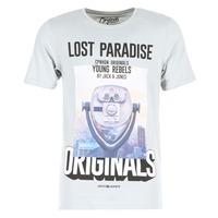 textil Herre T-shirts m. korte ærmer Jack & Jones FASTER ORIGINALS Grå