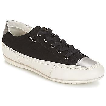 Sko Dame Lave sneakers Geox D N.MOENA D - SCAM.STA+VIT.CER Sort