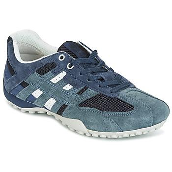 Sko Dame Lave sneakers Geox U SNAKE K - SCAM.+MESH Blå