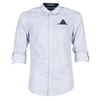 textil Herre Skjorter m. lange ærmer Scotch & Soda DARLU Hvid / Blå