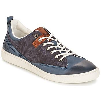 Sko Herre Lave sneakers Kickers SANTA FE Blå