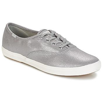 Sko Dame Lave sneakers Keds CH METALLIC CANVAS Sølv