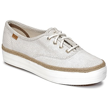 Sko Dame Lave sneakers Keds TRIPLE DALMATA DOT LEATHER Fløde