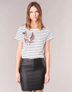 textil Dame T-shirts m. korte ærmer Only KIRA Hvid