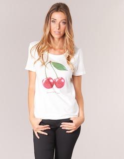 textil Dame T-shirts m. korte ærmer Only MELON Hvid