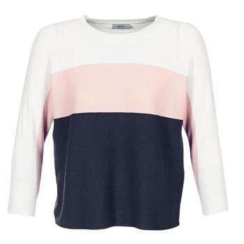 textil Dame Pullovere Only REGITZE Hvid / Pink / Marineblå