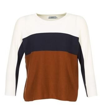 textil Dame Pullovere Only REGITZE Hvid / Marineblå / Brun