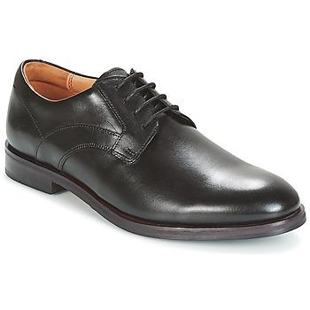 Sko Herre Snøresko Clarks Black Leather Sort