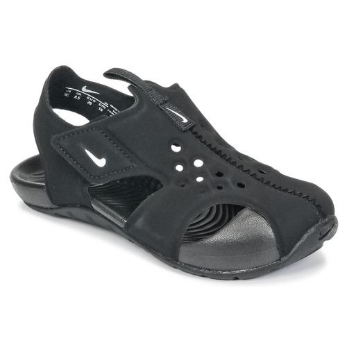 77c851e40263 Sko Dreng Sandaler Nike SUNRAY PROTECT 2 TODDLER Sort   Hvid