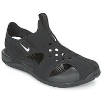Sko Børn Sandaler Nike SUNRAY PROTECT 2 CADET Sort / Hvid