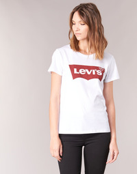 textil Dame T-shirts m. korte ærmer Levi's THE PERFECT TEE Hvid