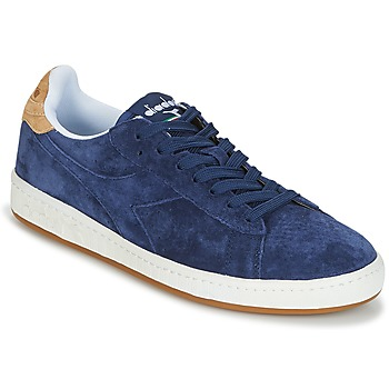 Sko Herre Lave sneakers Diadora GAME LOW SUEDE Blå