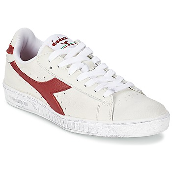 Sko Lave sneakers Diadora GAME L LOW WAXED Hvid / Rød