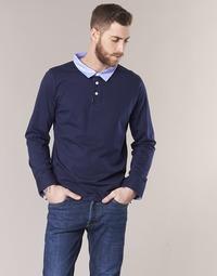 textil Herre Polo-t-shirts m. lange ærmer Casual Attitude IHEYA Marineblå