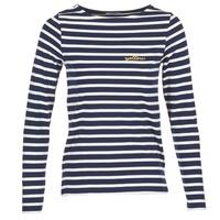 textil Dame Langærmede T-shirts Betty London IFLIGEME Marineblå / Hvid