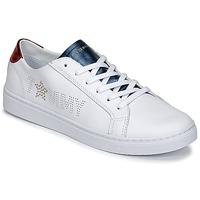 Sko Dame Lave sneakers Tommy Hilfiger VENUS 22 Hvid / Blå / Rød