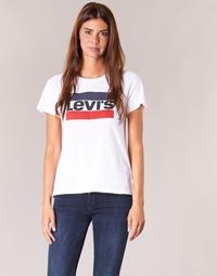 textil Dame T-shirts m. korte ærmer Levi's THE PERFECT TEE Hvid
