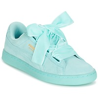 Sko Dame Lave sneakers Puma SUEDE HEART RESET WN'S Blå / Pastel
