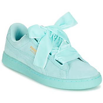 Sko Dame Lave sneakers Puma WNS SUEDE HEART RESET.BLUE Blå / Pastel