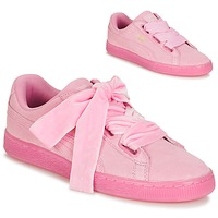 Sko Dame Lave sneakers Puma SUEDE HEART RESET WN'S Pink