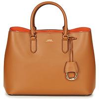 Tasker Dame Håndtasker m. kort hank Lauren Ralph Lauren DRYDEN MARCY TOTE Cognac / Orange