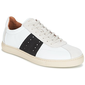 Sko Herre Lave sneakers Selected SHNDURAN NEW MIX SNEAKER Hvid / Marineblå